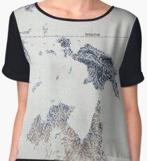Cartography / rivers Chiffon Top