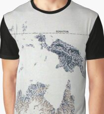 Cartography / rivers Graphic T-Shirt