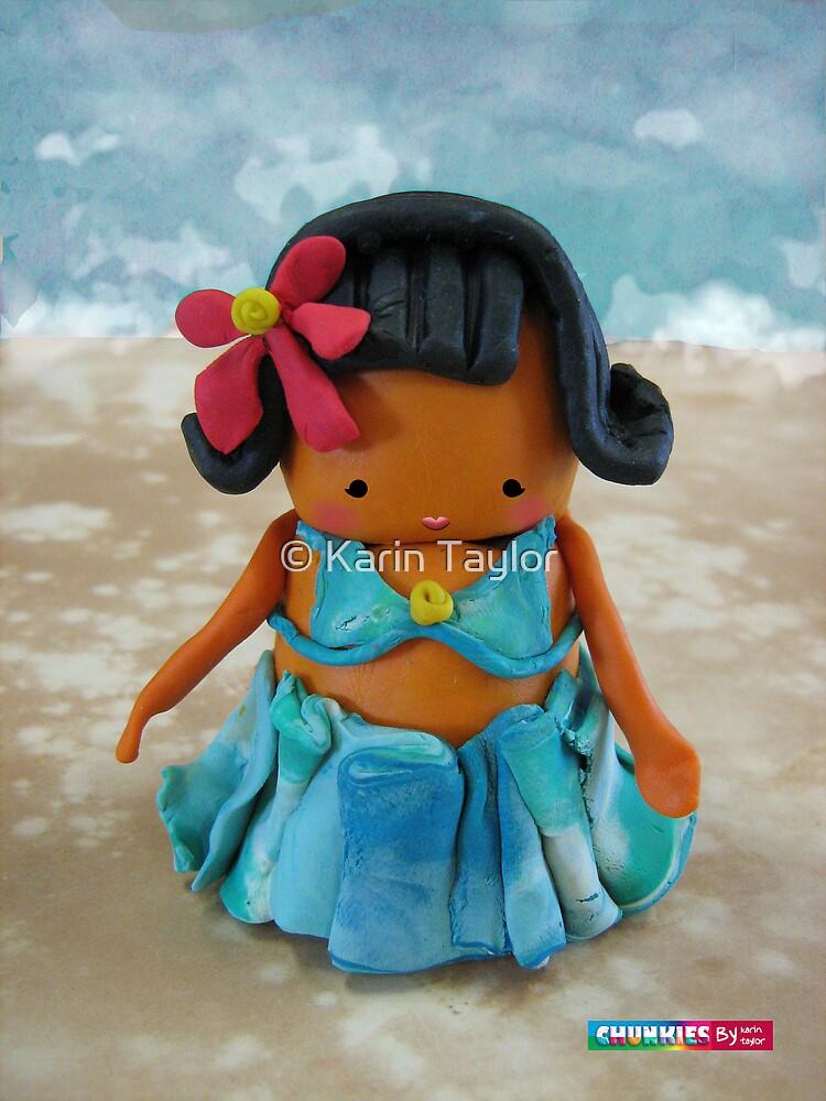 CHUNKIE Hula Girl by © Karin Taylor