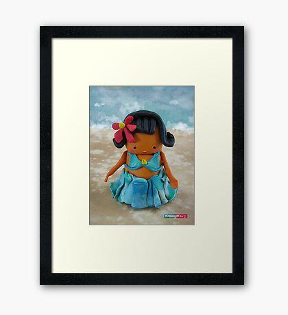 CHUNKIE Hula Girl Framed Print