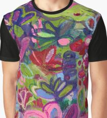 Once upon a wish - Intuitive flower painting - Mixed media  Graphic T-Shirt