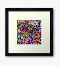 Once upon a wish - Intuitive flower painting - Mixed media  Framed Print