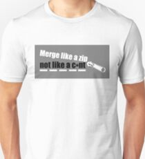 Merge Like A Zip Unisex T-Shirt