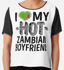 Ich liebe meinen heißen sambischen Freund - niedliche Sambia-Paare romantische Liebes-T-Shirts u. Aufkleber Chiffontop