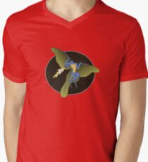 Archaeopteryx (the fire breathing kind) Men's V-Neck T-Shirt