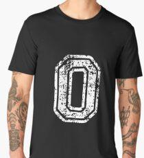 #0 Number Zero Sports Team T-Shirt White Text Men's Premium T-Shirt