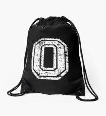 #0 Number Zero Sports Team T-Shirt White Text Drawstring Bag