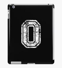 #0 Number Zero Sports Team T-Shirt White Text iPad Case/Skin