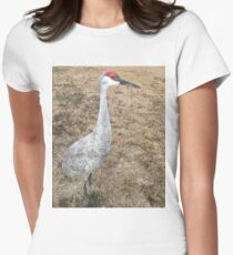Sand Hill Crane (Hen) Women's Fitted T-Shirt