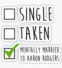 Single Taken Aaron Rodgers Sticker