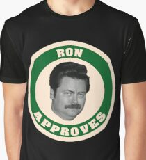 Ron Swanson Approves Graphic T-Shirt