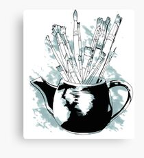 Happiness in a Teapot Canvas Print