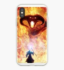 The fall into shadow and flame iPhone Case