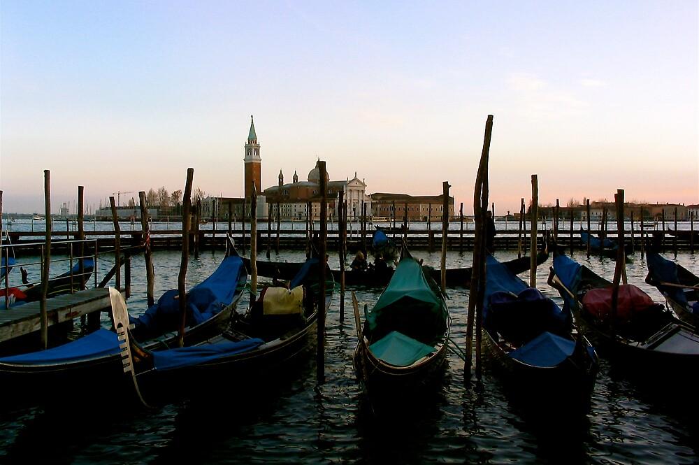 Gondolas, Venice by C1oud