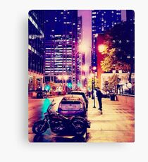 Purple Reign:  In To The Night...  Canvas Print