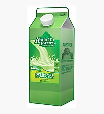 Ahch-To Farms Green Milk Carton Photographic Print