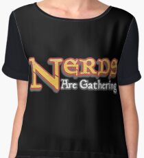 Nerds Are Gathering - Magic The Gathering MTG Spoof Chiffon Top