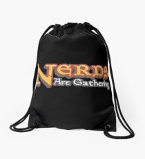 Nerds Are Gathering - Magic The Gathering MTG Spoof Drawstring Bag