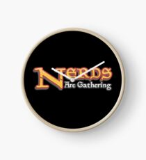Nerds Are Gathering - Magic The Gathering MTG Spoof Clock