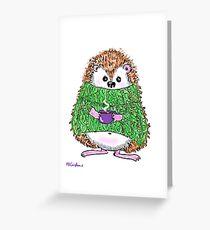 Cute Hygge Hog Hedgie Greeting Card