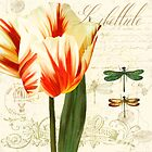 Labelliele Natural History Sketchbook II Botanical study dragon flies, tulip by Glimmersmith