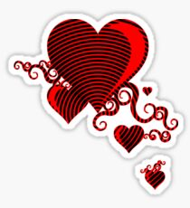 squiggle hearts Sticker