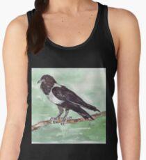 Domino, the Pied Crow (Corvus albus) Women's Tank Top