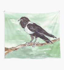 Domino, the Pied Crow (Corvus albus) Wall Tapestry