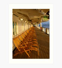 Cruiseship deck Art Print