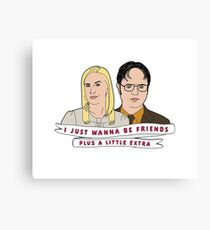 Dwight & Angela The Office Canvas Print