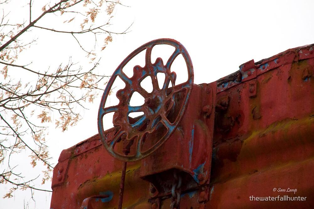 Blue Wheel by thewaterfallhunter