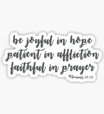 Romans 12:12 Sticker