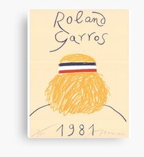 Call Me By Your Name Roland Garros 1981 Poster Canvas Print