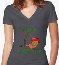 FSGS Warrior Women's Fitted V-Neck T-Shirt