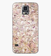 Dusty Rose and Coral Art Deco Marbling Pattern Case/Skin for Samsung Galaxy