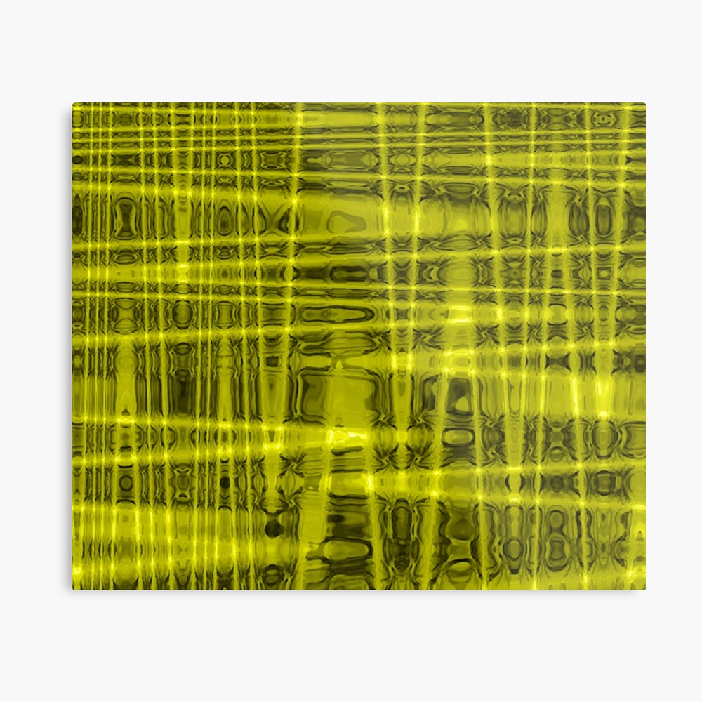 QUANTUM FIELDS ABSTRACT [1] YELLOW [1]  Metal Print
