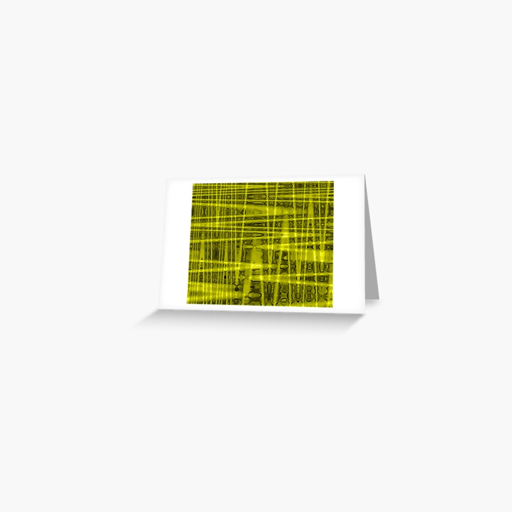 QUANTUM FIELDS ABSTRACT [1] YELLOW [1]  Greeting Card