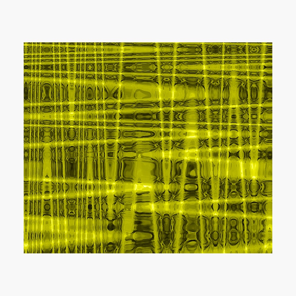 QUANTUM FIELDS ABSTRACT [1] YELLOW [1]  Photographic Print