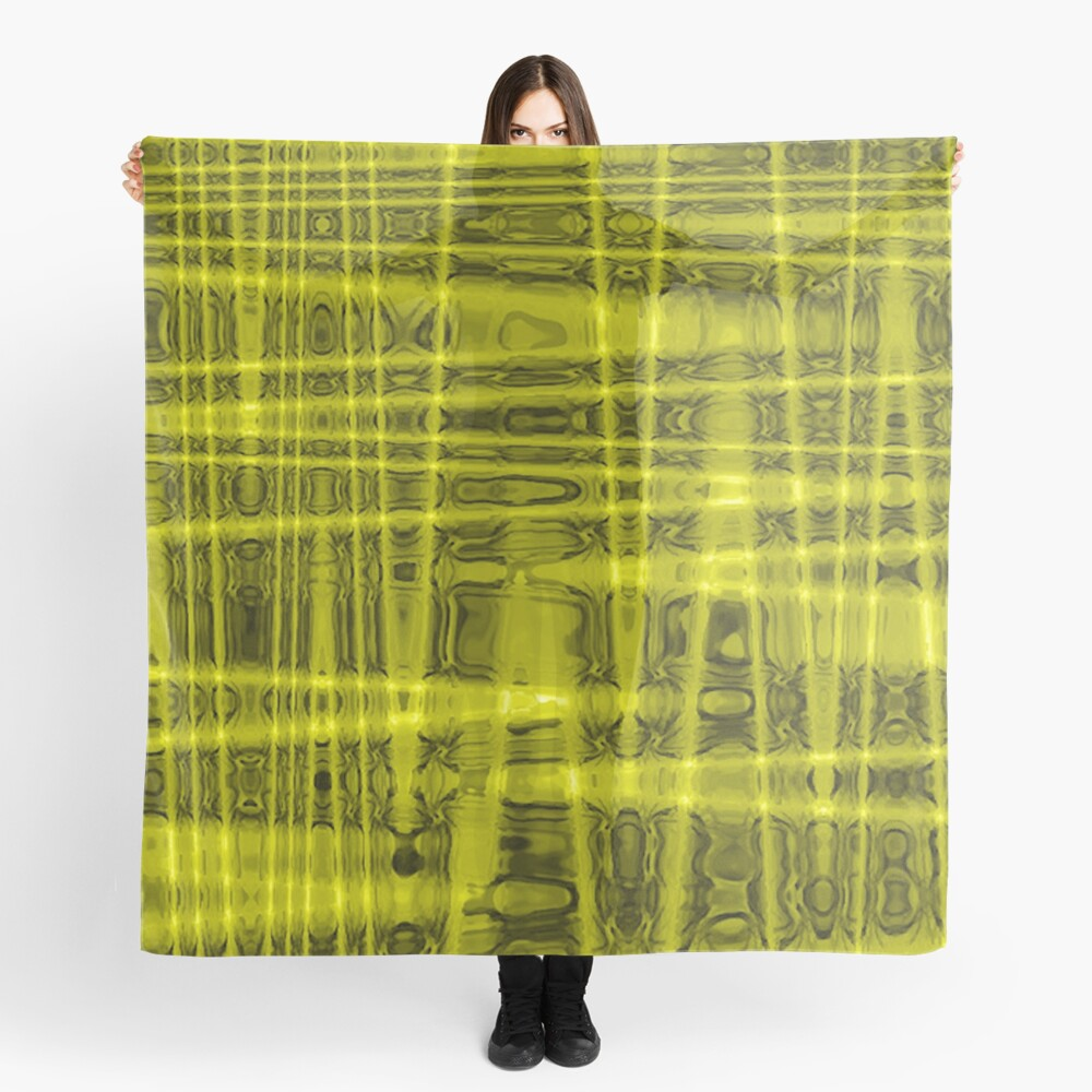 QUANTUM FIELDS ABSTRACT [1] YELLOW [1]  Scarf