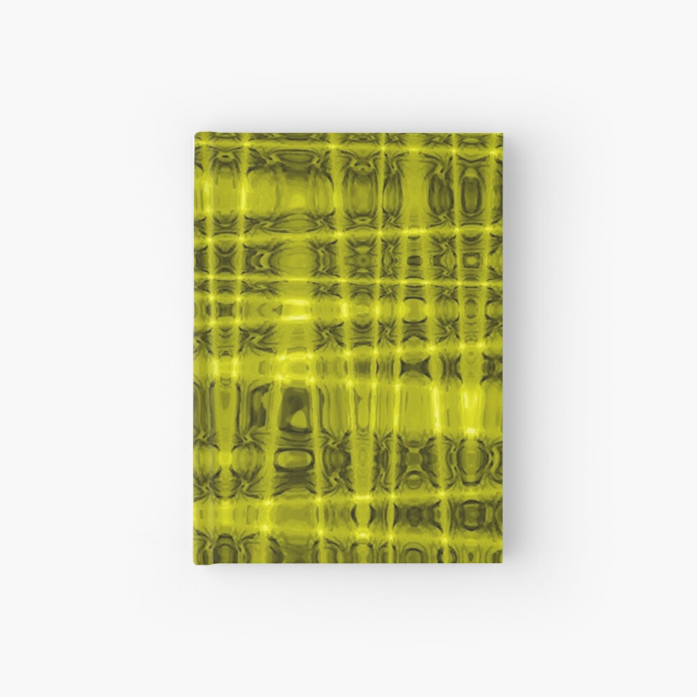 QUANTUM FIELDS ABSTRACT [1] YELLOW [1]  Hardcover Journal