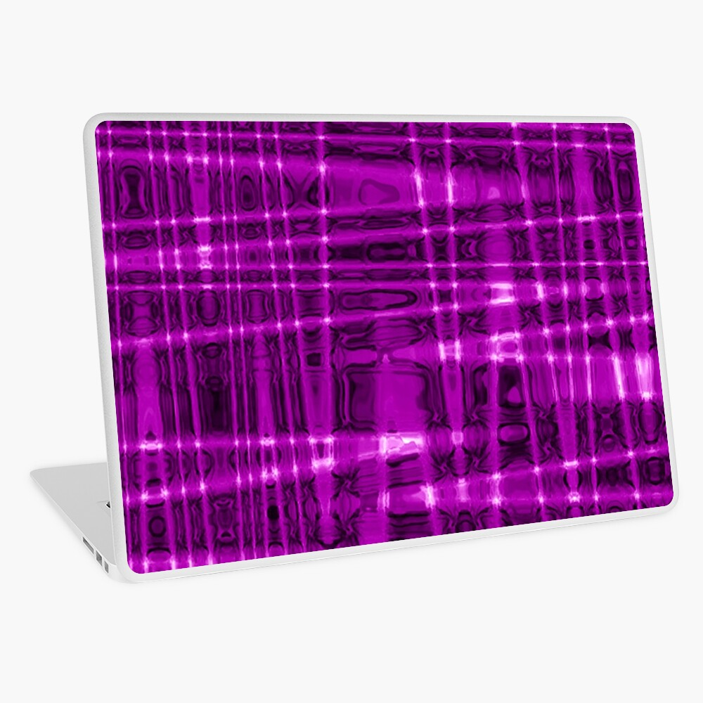 QUANTUM FIELDS ABSTRACT [1] VIOLET [1] Laptop Skin