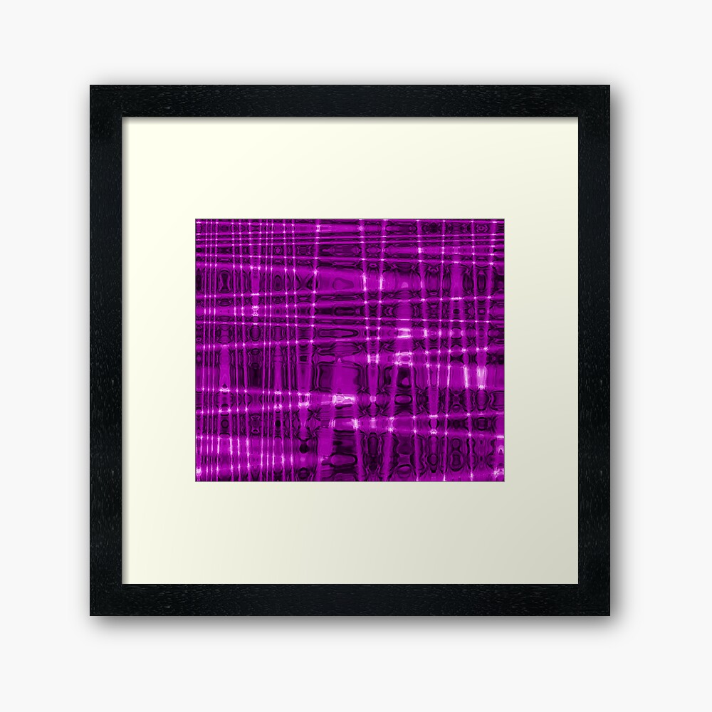 QUANTUM FIELDS ABSTRACT [1] VIOLET [1] Framed Art Print
