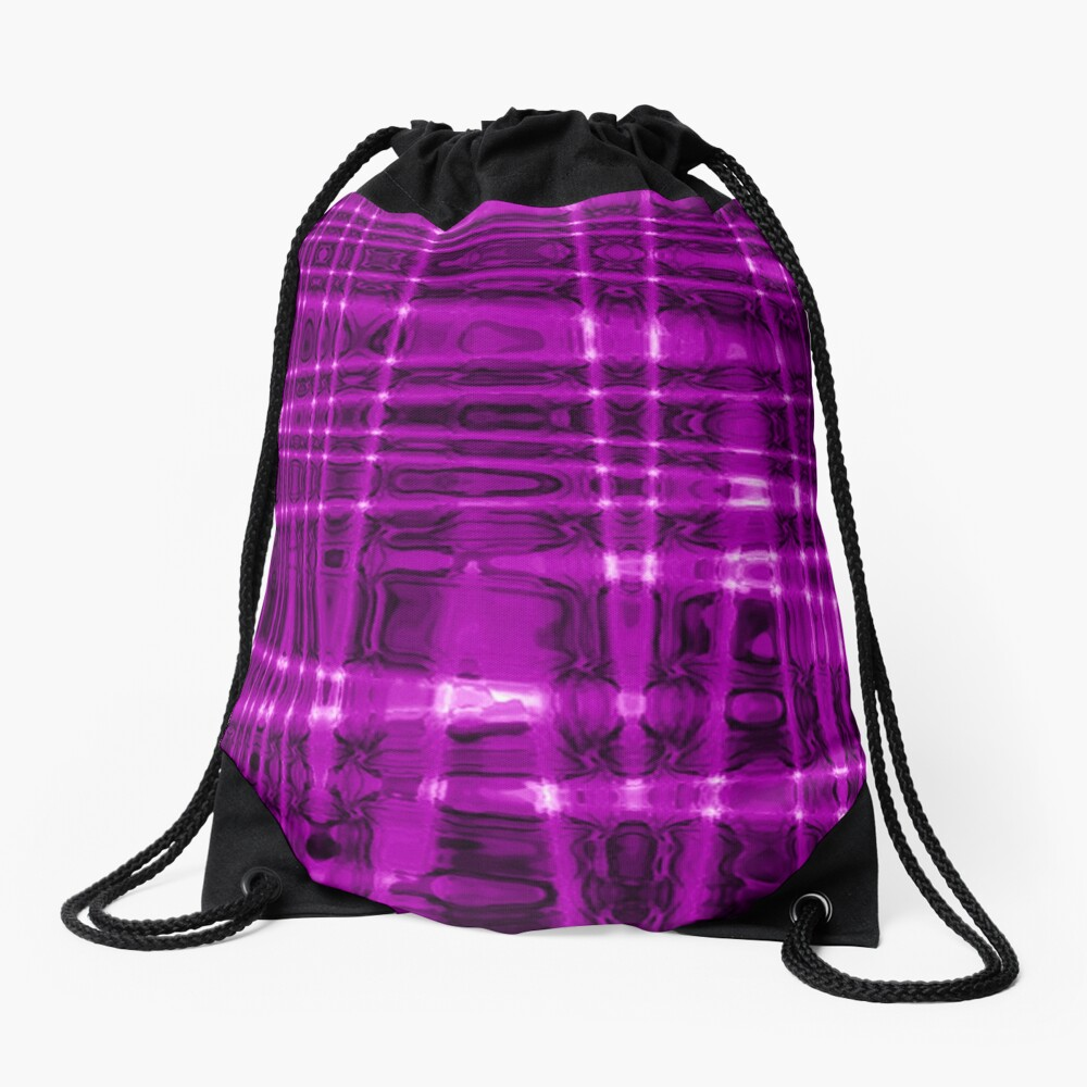 QUANTUM FIELDS ABSTRACT [1] VIOLET [1] Drawstring Bag