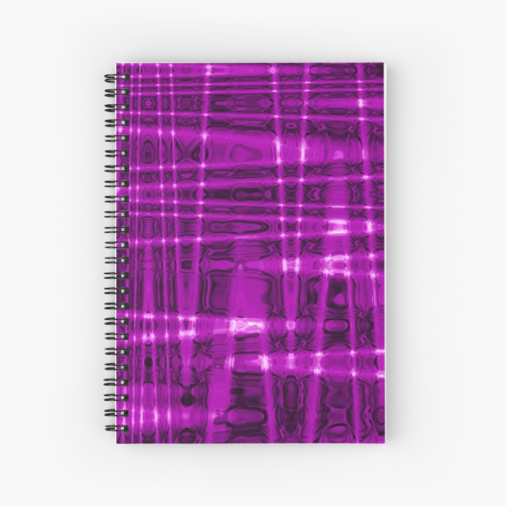 QUANTUM FIELDS ABSTRACT [1] VIOLET [1] Spiral Notebook