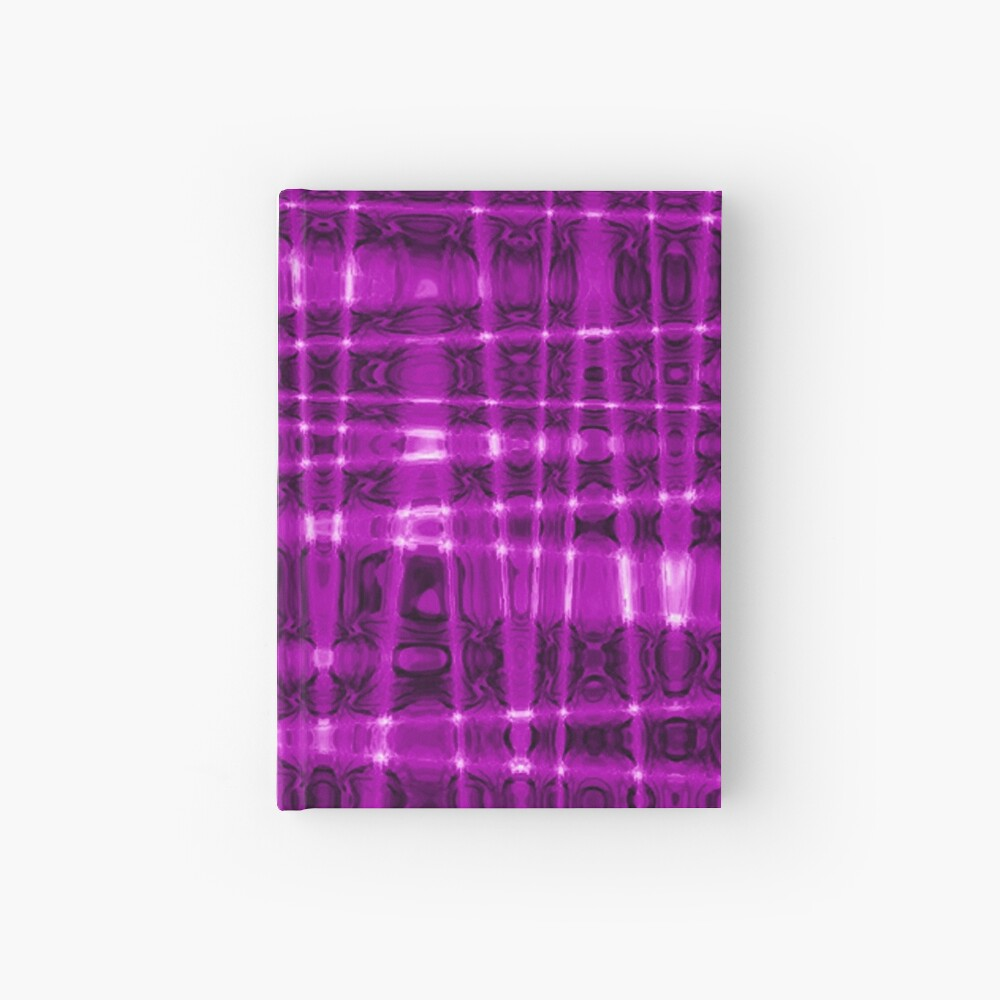 QUANTUM FIELDS ABSTRACT [1] VIOLET [1] Hardcover Journal