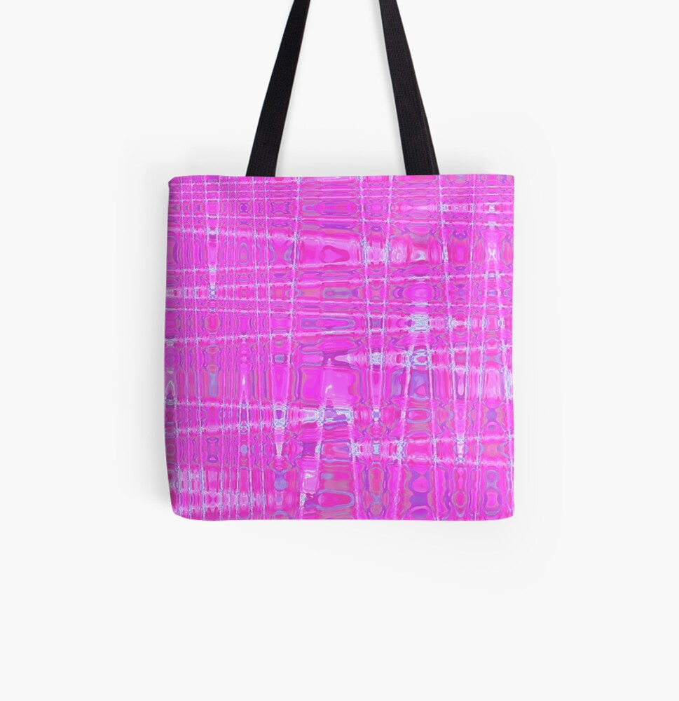 QUANTUM FIELDS ABSTRACT [1] PINK [1] All Over Print Tote Bag