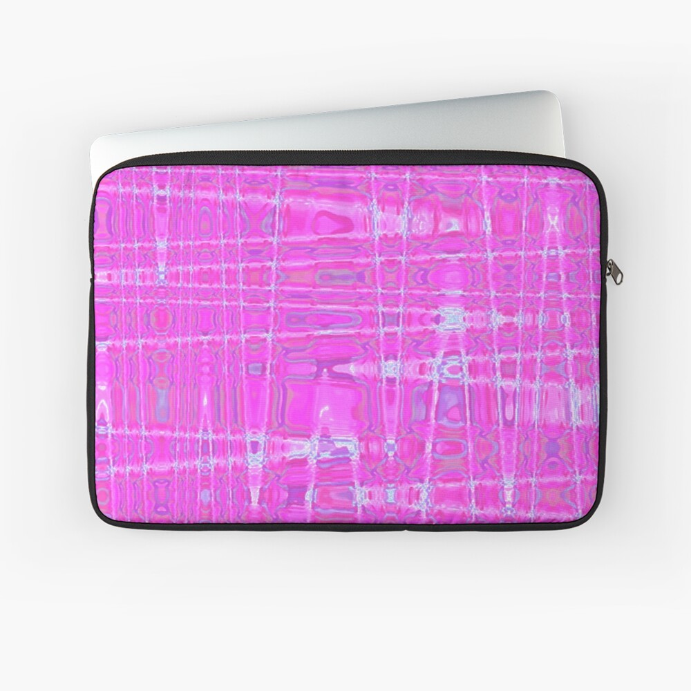 QUANTUM FIELDS ABSTRACT [1] PINK [1] Laptop Sleeve