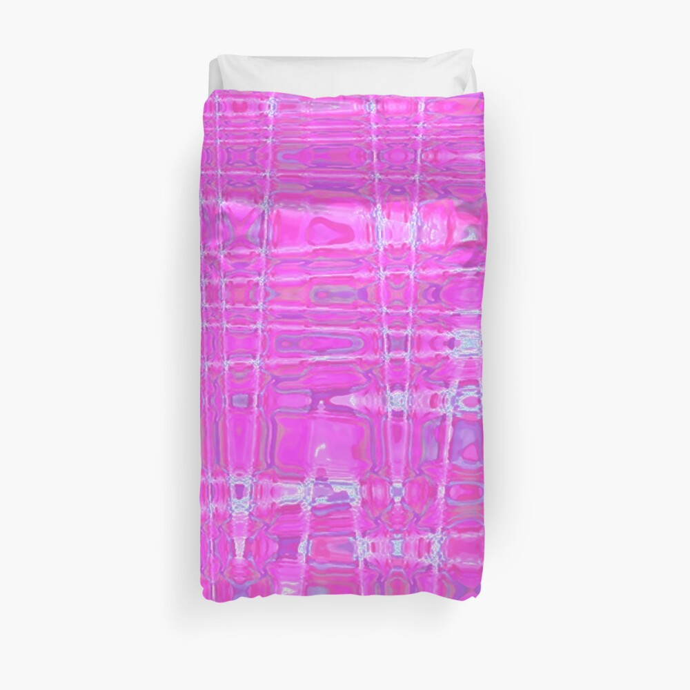 QUANTUM FIELDS ABSTRACT [1] PINK [1] Duvet Cover