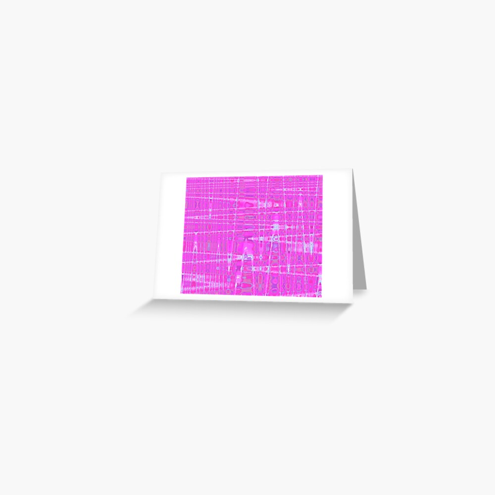 QUANTUM FIELDS ABSTRACT [1] PINK [1] Greeting Card