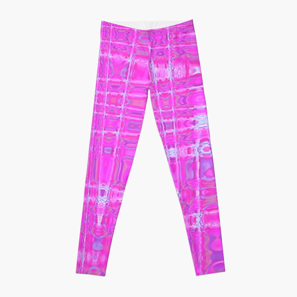 QUANTUM FIELDS ABSTRACT [1] PINK [1] Leggings